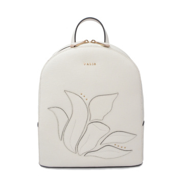 Boxy and Minimal Voyager Floral Leather Small Backpack