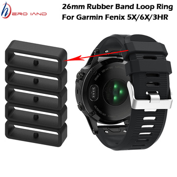 10PCSReplacement Watch Strap Band Keeper Loop Security Rubber Holder Retainer Ring For Garmin Fenix 6X/5X Plus/3/3HR Smart Watch