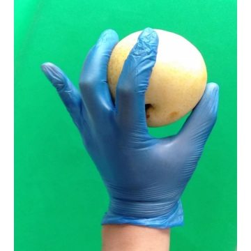 Powder Free blue Vinyl Glove