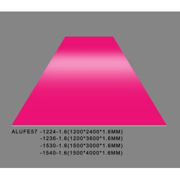 Gloss Fuchsia Aluminum Sheet Plate 5052 1200*3600*1.6mm