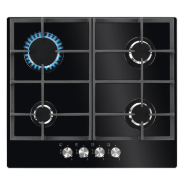 Glass Gas Hob Smeg 4バーナー