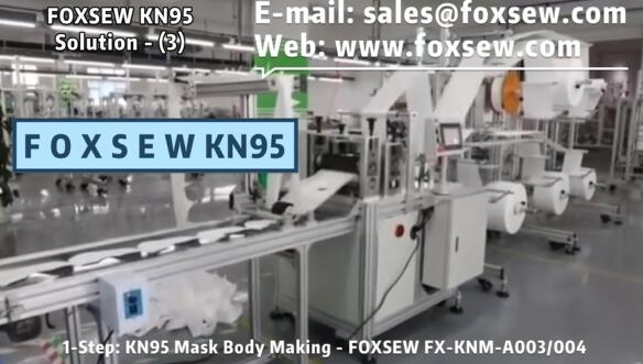 KN95 Mask Solution 3 Blank Body and Edge Sealer and Earloop Welder