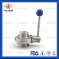 Stainless Steel Thread Butterfly Valve with Plastic Multi-Position Handle
