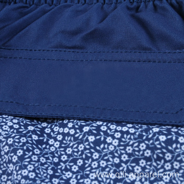 100%Polyester Swim Embroidered Beach Shorts