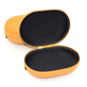 Wholesale leather wireless headphone travel case