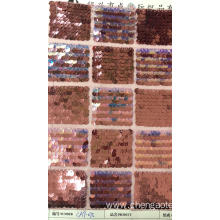 Square Grid Sequin Mesh Embroider Fabric