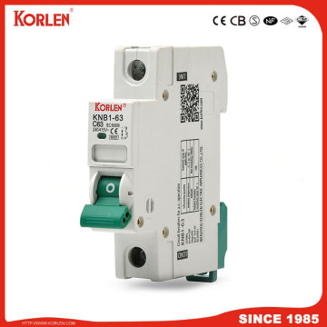 DZ47 TYPE Mini circuit breaker silver contact 6KA MCB with CE CB SEMKO SIRIM IEC/EN60898-1