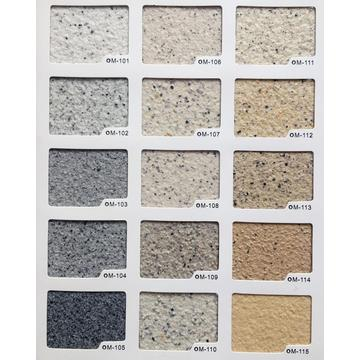 Exterior stone finish effect paint