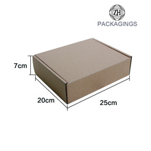 Luxury brown mailer box for clothes