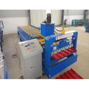 Lowest cost Trapezoidal Sheet Aluminum Roofing Roll Forming Machine