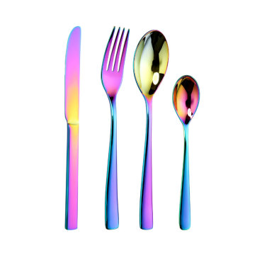 Bulk Rainbow Color Stainless Steel  Cutlery Set