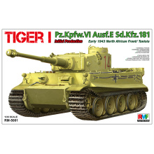 RYE FIELD Model RFM RM-5001 1/35 Scale TIGER I Pz.Kpfw.VI Ausf.E Sd.Kfz.181 early1943 north african Plastic Model Building Kit