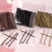 100PCS Wedding Alloy Pins Hair Clips Hairpins Barrette Hairpins Hair Accessories Black Side Wire Folder Styling Tools