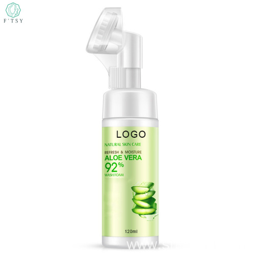 Private Label Organic Aloe Face Wash Foam Moisturizing