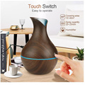 Cool Mist Flower Shape Wood Grain Aroma Diffuser