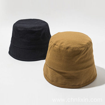 Foldable plain cap bucket hat women travel hat