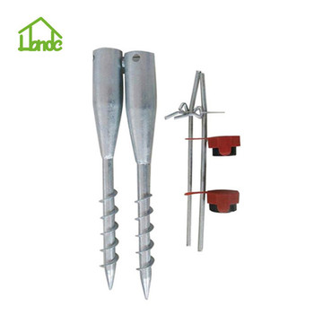 Steel Umbrella Anchor with Three Nuts