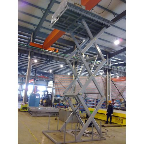 Warehouse goods lift hydraulic