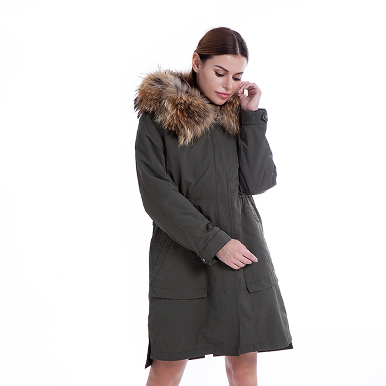Fur-lined lady's parka