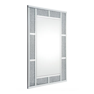 Crystal diamond rectangular MDF mirror hanging mirror
