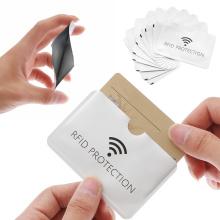 10Pcs Anti Rfid ID Card Holder Laser Aluminium Wallet Blocking Reader Lock Anti-theft Bank Card Case Credit Cards Covers