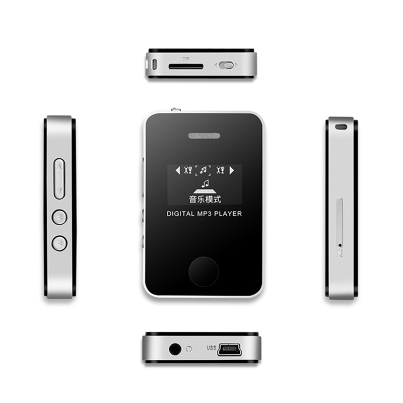 Learn MP3 Player with Sn Card Mp3 Walkman with External Speaker Music Media Player LCD Sn