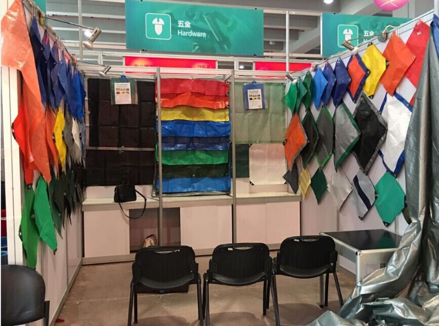 Canton Fair PE tarp booth