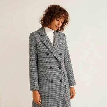 Double Breasted Design Elegant Woman Long Wool Coat