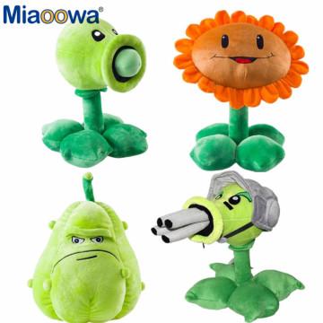 30cm Plants vs Zombies Plush Decorations Toy Chomper Plants vs.Zombies 2 Figurine Pea Sunflower Melon Stuffed Doll for Kids Gift