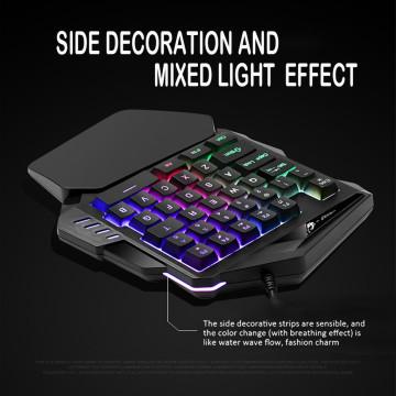 K13 One handed Membrane Gamer 35 Keys Keyboard Backlit Single Hand Gaming Keypad PC Gamer Keyboards Mini Teclado For Laptop