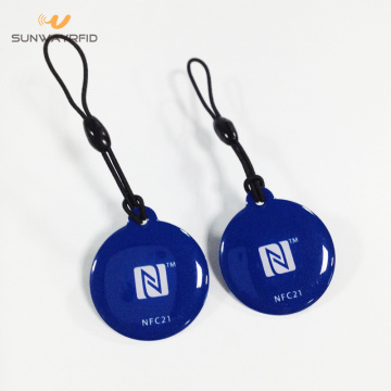 Custom Printing 30mm PVC RFID Tags with epoxy
