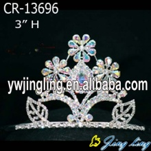 Wholesale Series AB Rhinestone Flower Pageant Crown
