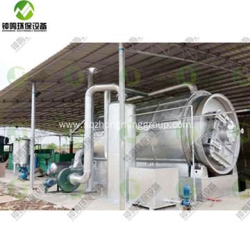 Crude Pyrolysis Oil Uses Extraction from Plastic Waste