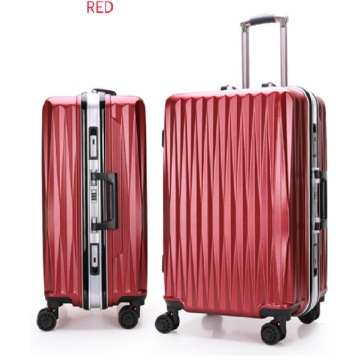 ABS aluminum alloy rod universal wheel luggage