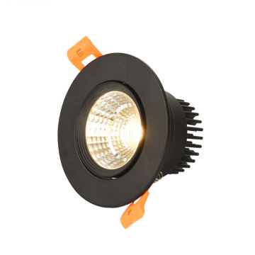COB all black ceiling spotlight LED recessed spotlight