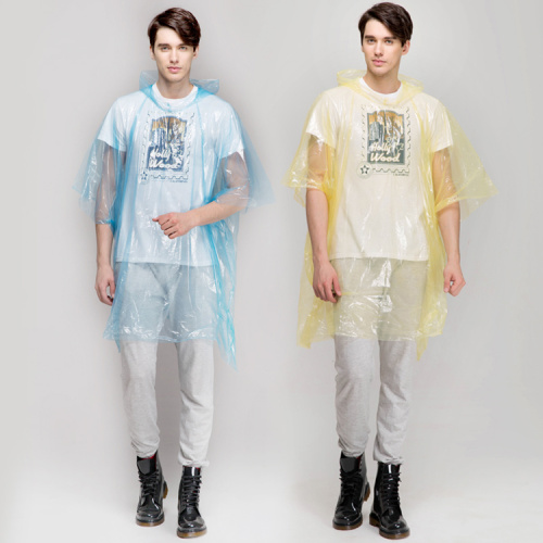 Disposable Fashion PE Rain Poncho