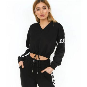 Customization High-waisted Women Hoodies 2pcs Tracksuit