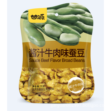 Tasty sauce beef flavor broad bean snack food