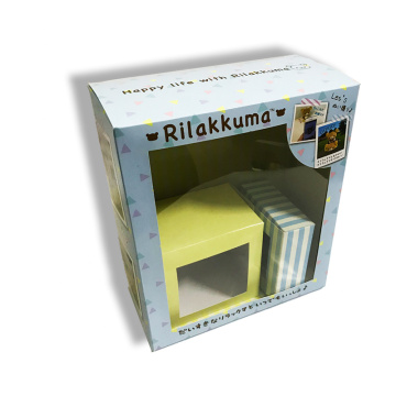 Large gift packaging boxes with PVC window