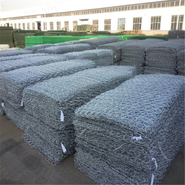 Woven Hexagonal Mesh Gabions 1x1x1m With Stone