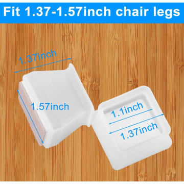 Square Furniture Silicone Chair Leg Floor Protectors