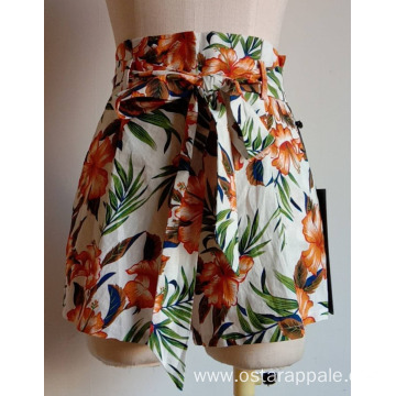 Women Shorts with Zip at Side