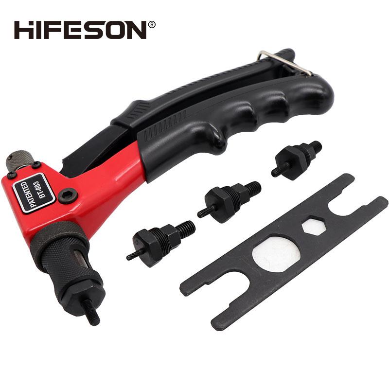"HIFESON Powerful 8"" Single Hand Rivet Nut Guns Insert Threaded Mandrels Manual Riveters Nut Gun for Riveting M3 M4 M5 M6 Nuts"