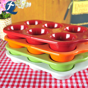 Wholesale Ceramic Kitchen Colorful Cup Cake Tool