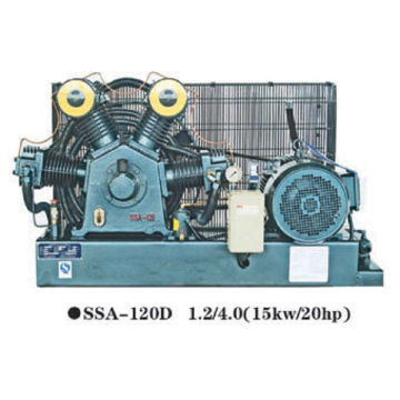 High pressure air compressor for blowing machine