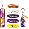 Custom Sport Star Signature Rubber Wristbands Keychain