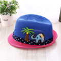 hat drawing colorful large brim baby snapback hat