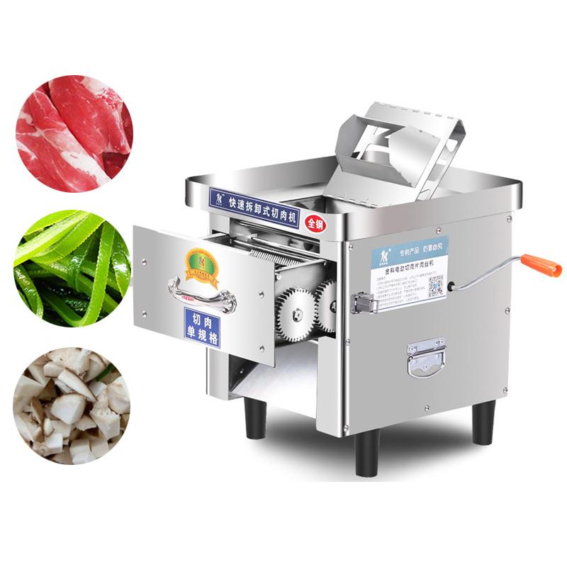 Desktop Stainless Steel Meat Cutter Machine Household Multifunction Shiitake Mushroom Slicer Chopper