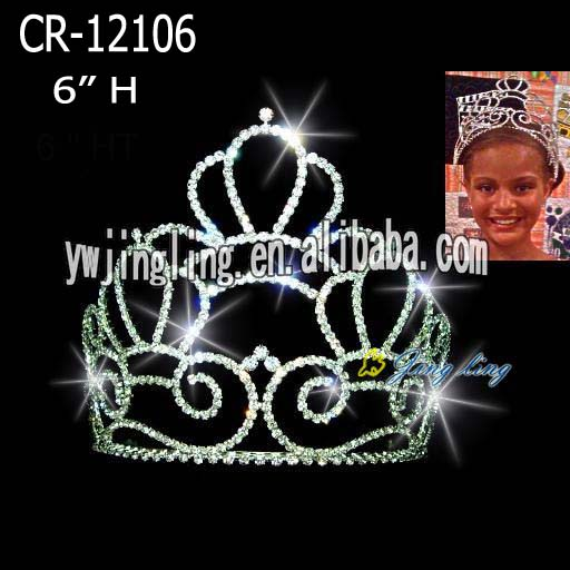 Custom cheap queen crowns wholesale hair accessories