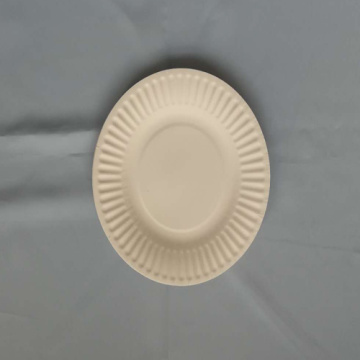 "6.5"" Paper Plates Party Cake Used White"
